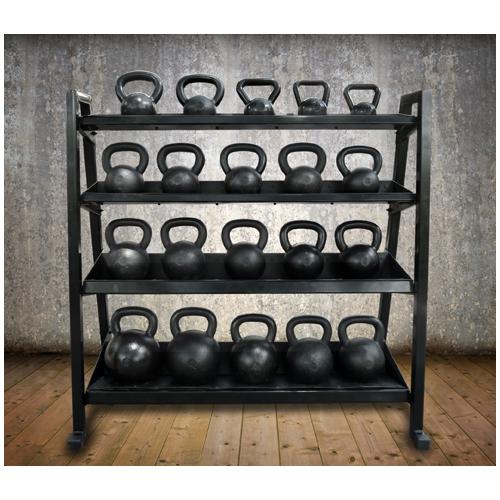 Kettlebell Rack with bells